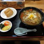くぬぎむら体験交流館 - ひもかわセット:720円