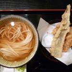 瀬戸内製麺710 - ひやかけ&天ぷらセット(H26.8.31)