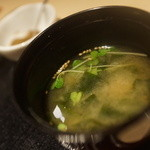 ねぎま - ワカメ味噌汁