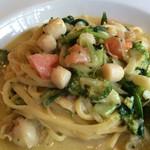 イタリア食堂ポルコ - 小柱とブロッコリーのクリームソース★★★☆