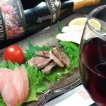 グラスワインと地鶏の前菜盛合せセット