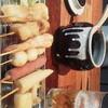 もも屋 - 料理写真:おまかせ8本串揚げセット(脇にキャベツが付く)