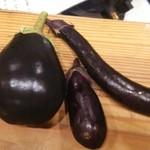 分田上 - 自家栽培茄3種!       米茄、オオナガ茄、せんりょうなす