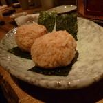 ○カ商店 - 〆の海胆のおにぎりがこれまた美味。