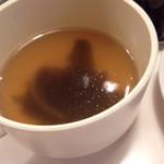 カルダモン食堂 - ランチセットのスープ………温い。。。わざと?