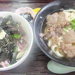 おむすびころりん - ☆土佐タタキ丼とうどん定食(肉)☆※ランチパスポート