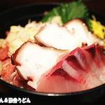海ぼうず - 海鮮3色丼(中落ち・イナダ・タコ)