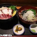 海ぼうず - 海鮮3色丼と釜揚しらすおろし蕎麦
