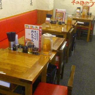 テーブル席もあります!