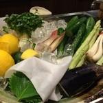 写楽 - 新鮮なお野菜も並びます+゚。*(*´∀`*)*。゚+