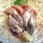 さんきち - サンマとカツオの造り