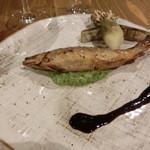 蛍雪の宿 尚文 - 岩魚のきゅうりのソース