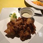 ビストロ フランベ - 「鶏肉の唐揚げ トリュフ風味のタルタルソース」