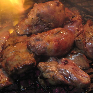 鶏レバー炭火焼(薩摩鶏使用)