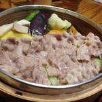 30441763 - 野菜と豚肉のせいろ蒸し