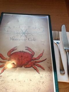 Alioto's Restaurant - メニューの表紙は蟹