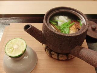 京料理かねき - はも&松茸の土瓶むし