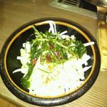 道とん堀 - ランチの大根サラダ