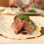 オステリア オルカドーロ - 豚ヒレ肉のタリアータ マルサラソース☆
