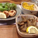 馳走屋 菜乃花 - イシモチ、ホタテのバター焼き