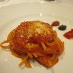 ラルテ沢藤 - シェフ沢藤特製サルサ・ポモドーロのスパゲッティ