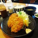 あかずきん - 2014.07_ひれかつ定食(1296円)