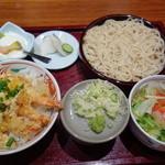 天ぷら 左膳 - 【天とじそば定食 ¥980】