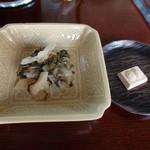 廚菓子くろぎ - 塩物と干菓子