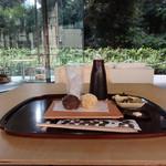 廚菓子くろぎ - あんころもちセット(1,620円)