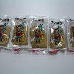 金萬堂本舗 さんすて岡山 - きび田楽のパッケージの中は5つ入りでした。