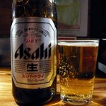 屋台安兵衛 - もう、しこたま飲んだのですが、またまた、ビールからのスタートです。なんたって餃子を食べるんですからビールは外せませんよね。