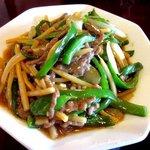 中国菜家明湘園 - 青椒牛肉絲!(2014,08/30)