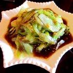 中国菜家明湘園 - レタスのかき油の炒め!(2014,08/30)