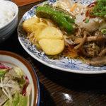 ビストロ鉄彩 - きのこポン酢ハンバーグ