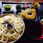 30463682 - さんぽ道セット(うどん又はそば)、野菜天ぷら、ゼリーフライ、小鉢、デザート、コーヒー