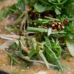 湖陽樹 - 2-2)湖陽樹式担々麺・新味のパクチーアップ