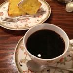 ミンガスコーヒー - ケーキセット❤︎かぼちゃのシフォンとフレンチ