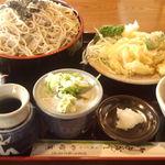 やぶ広 - ざるそば定食大盛り(1,320円)