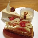 シュガーシャック - イチヂクのタルト ほうじ茶と柚子のケーキ キビ糖のプリン  美味しい〜!
