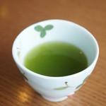 Green Tea Fields - 食後にはお茶のサービスが。