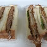 30471017 - 左はメンチカツ(250円) 右が白身魚(290円)のサンドイッチ