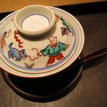 30474298 - 胡麻豆腐の餡掛け、唐津の赤雲丹と1