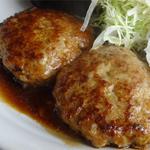 ゆめあとむ - 2014.07_十勝若牛ハンバーグ定食(1000円)2コのハンバーグ