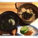 魚乱本陣 - 「食事」 松茸と鯛の炊き込み御飯、香の物 「留椀」 鱧の吸い物