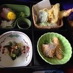 湯野温泉 紫水園 - よくばり御膳 1600円 温泉とセット 2回目