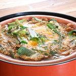 九州居酒屋 一丁目一番地 - 九条ネギと豆富の卵とじ