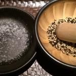 とんかつ ぴん 錦糸町テルミナ店 - ゴマと目の前で挽いた塩