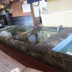 活魚小松 - カウンター席の内側にある生簀。