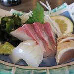 活魚小松 - 刺身3種盛り