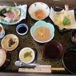 活魚小松 - 小松定食(9品)1210円
